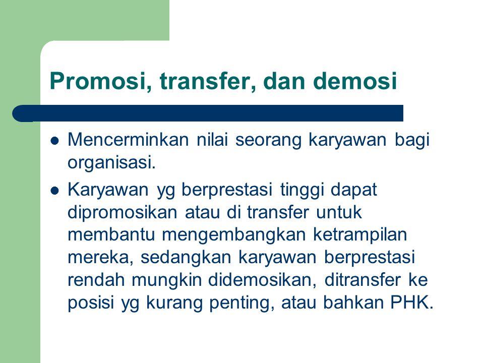 Promosi, transfer, dan demosi