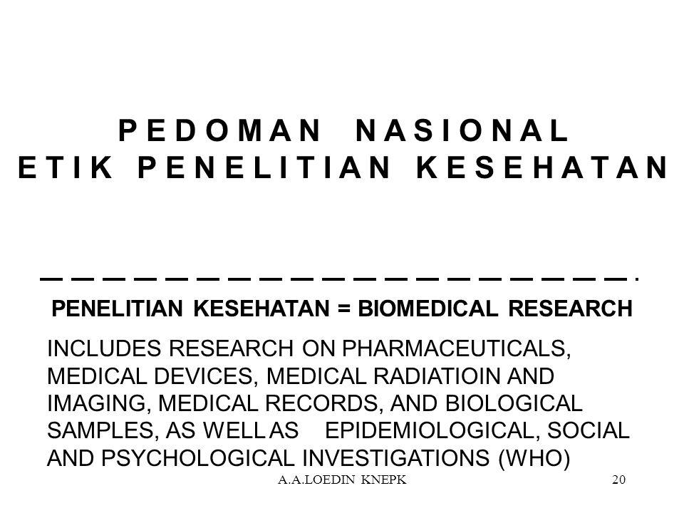 PENELITIAN KESEHATAN = BIOMEDICAL RESEARCH