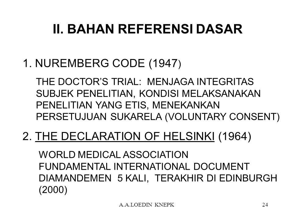 II. BAHAN REFERENSI DASAR