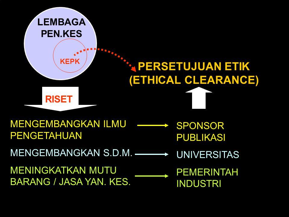 PERSETUJUAN ETIK (ETHICAL CLEARANCE)