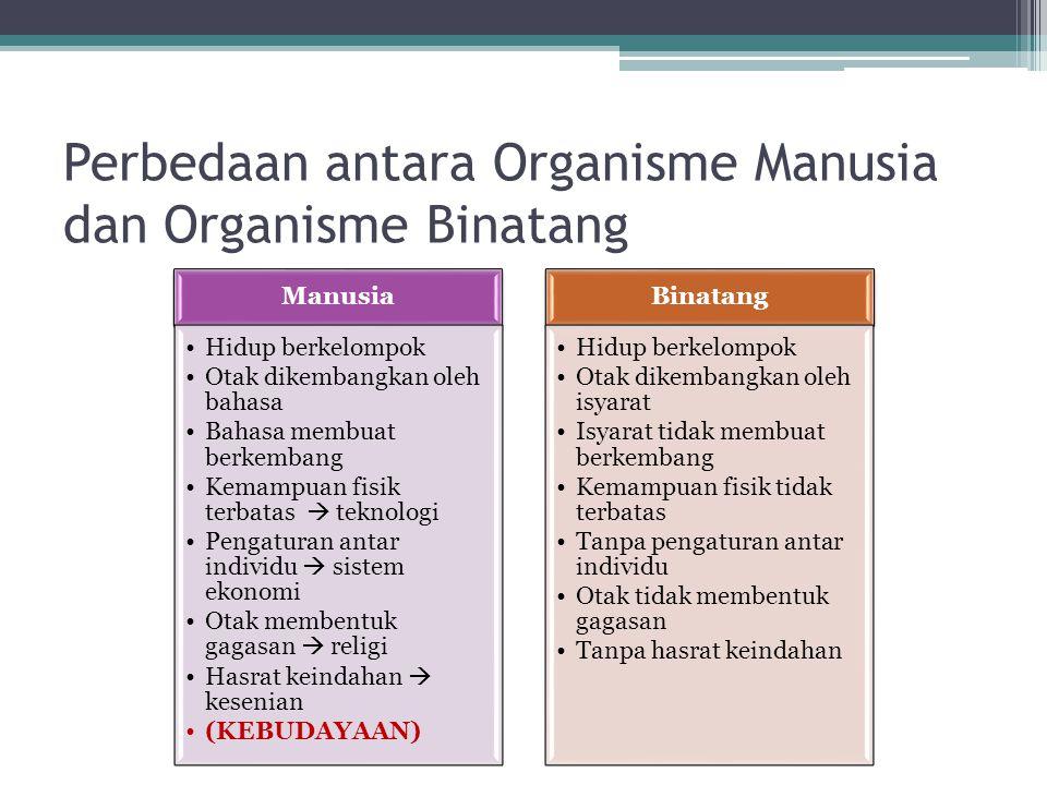 Perbedaan antara Organisme Manusia dan Organisme Binatang