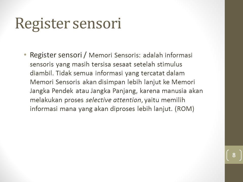 Register sensori
