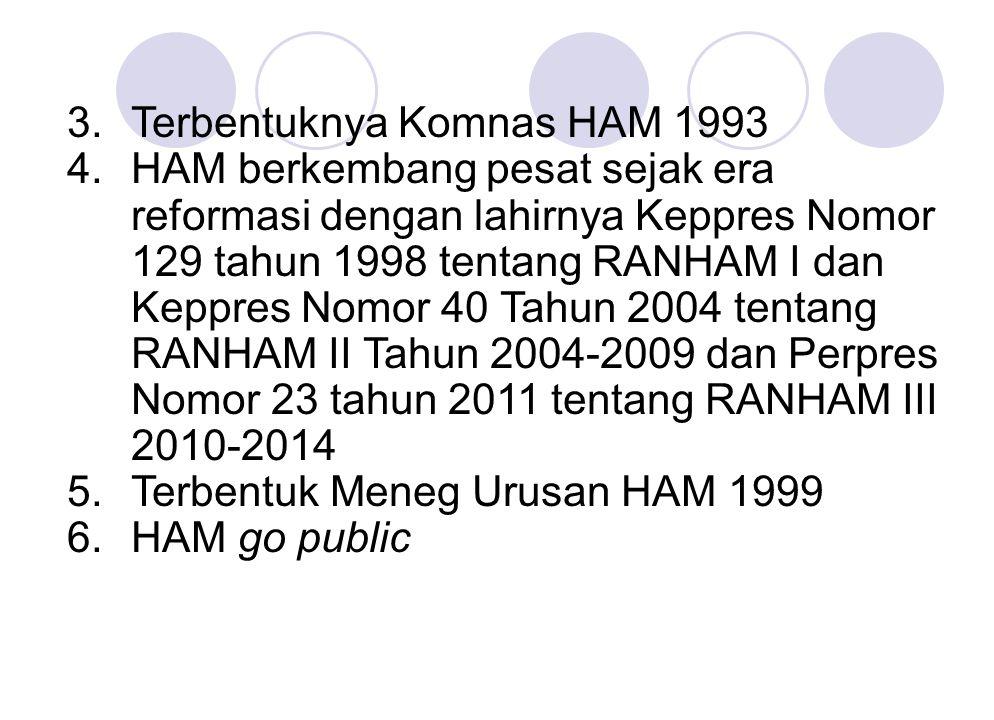 3. Terbentuknya Komnas HAM 1993