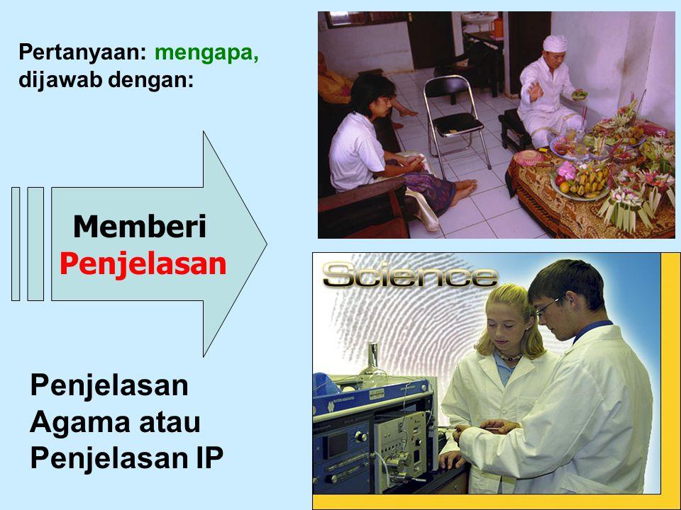 Penjelasan Agama atau Penjelasan IP