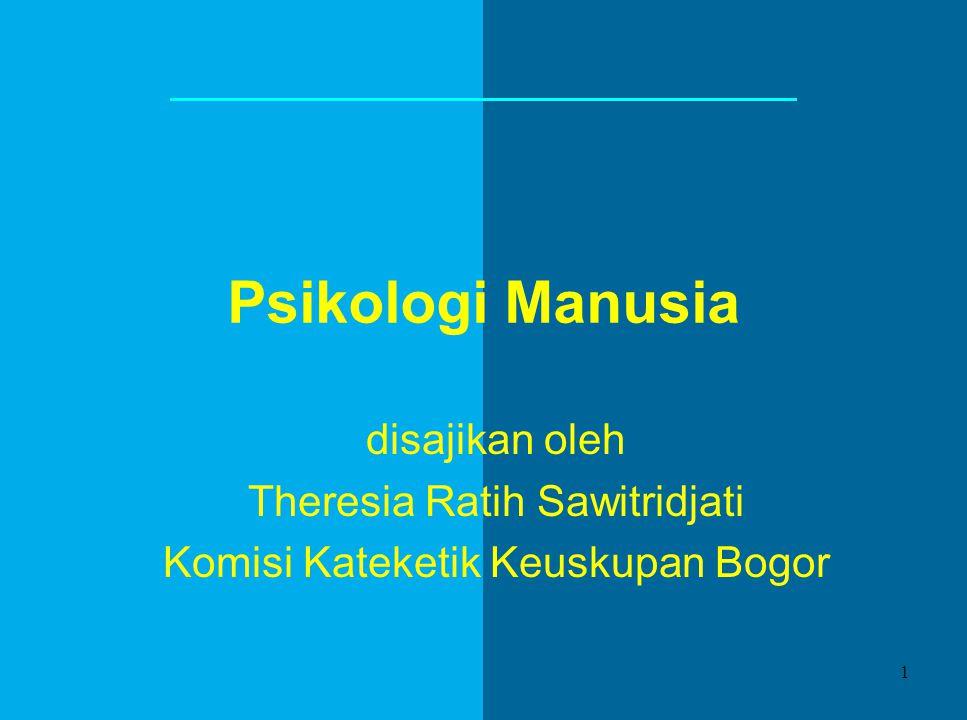 Psikologi Manusia disajikan oleh Theresia Ratih Sawitridjati