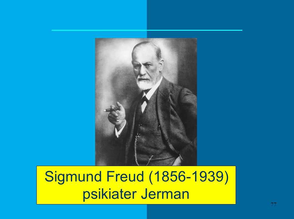 Sigmund Freud (1856-1939) psikiater Jerman