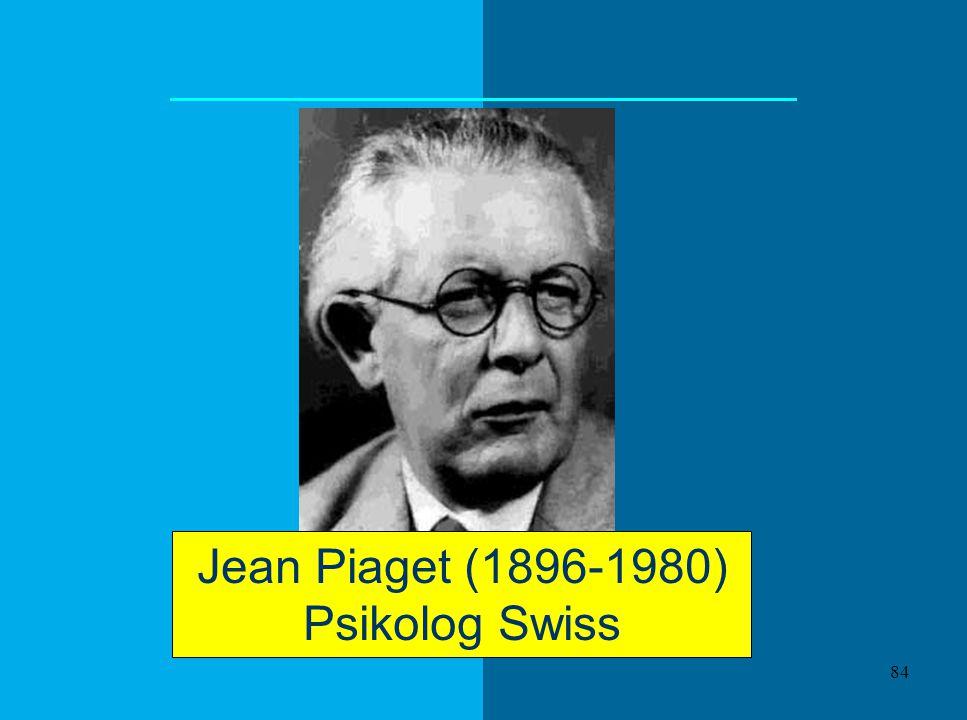 Jean Piaget (1896-1980) Psikolog Swiss