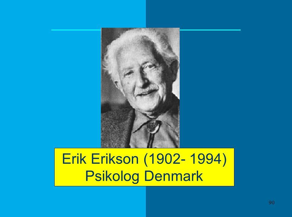 Erik Erikson (1902- 1994) Psikolog Denmark