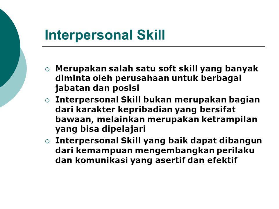 Interpersonal Skill Merupakan salah satu soft skill yang banyak diminta oleh perusahaan untuk berbagai jabatan dan posisi.