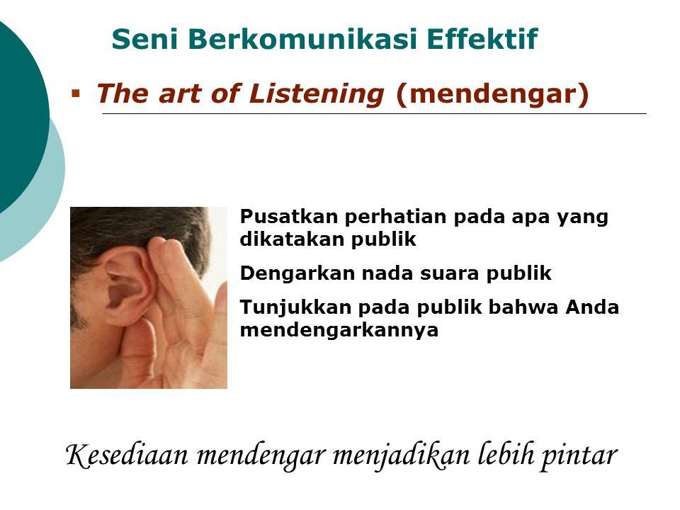 Kesediaan mendengar menjadikan lebih pintar