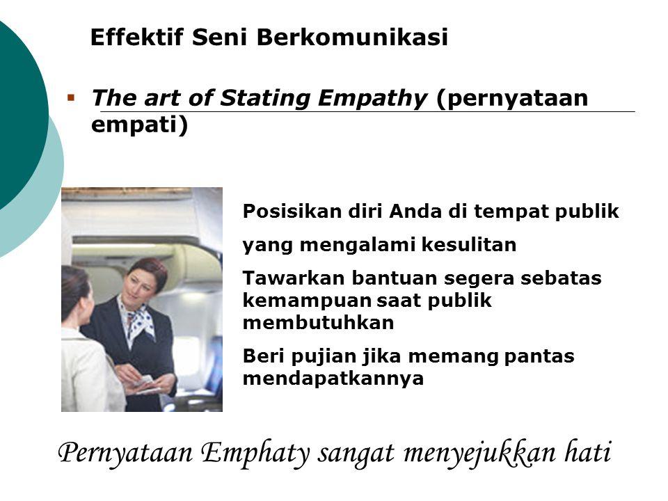 Pernyataan Emphaty sangat menyejukkan hati