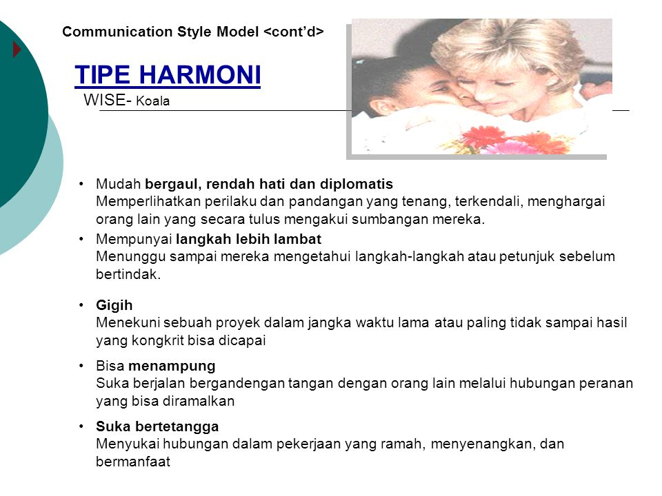 TIPE HARMONI WISE- Koala Communication Style Model <cont'd>