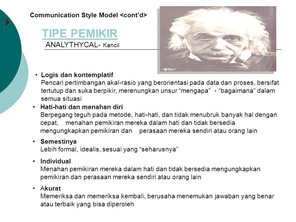 TIPE PEMIKIR ANALYTHYCAL- Kancil