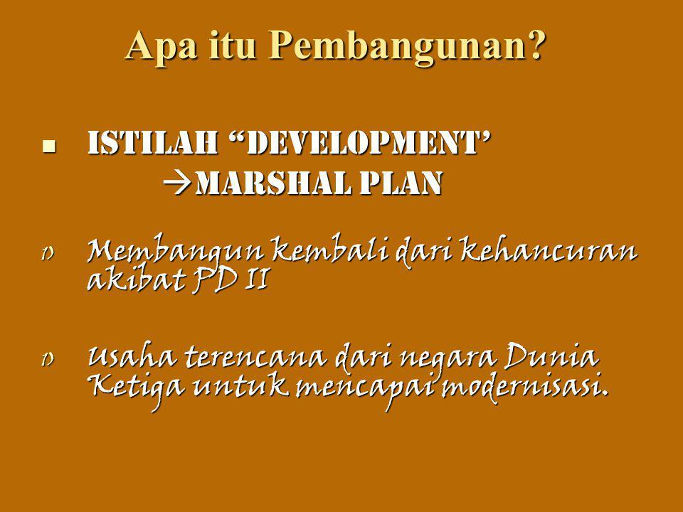 Apa itu Pembangunan Istilah Development' Marshal Plan