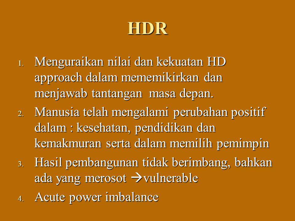 HDR Menguraikan nilai dan kekuatan HD approach dalam mememikirkan dan menjawab tantangan masa depan.
