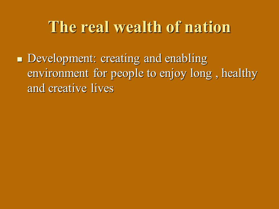 The real wealth of nation