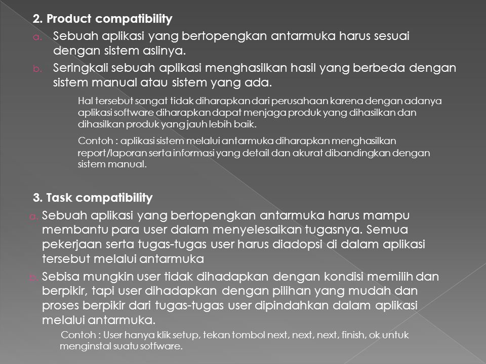 2. Product compatibility