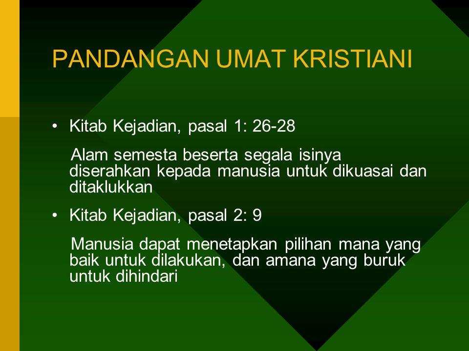 PANDANGAN UMAT KRISTIANI