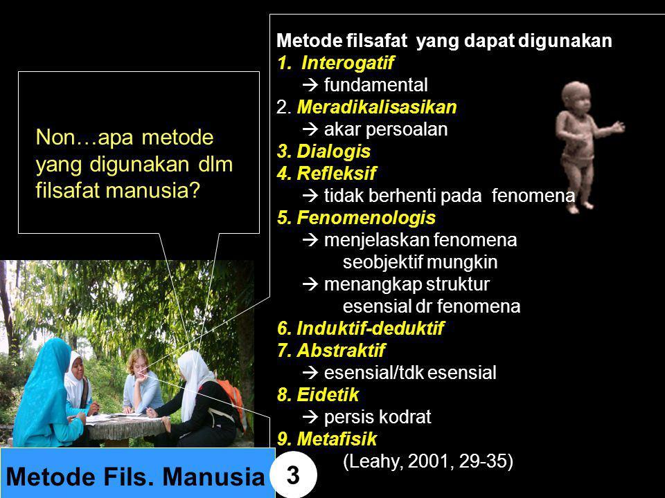 Metode Fils. Manusia 3 Non…apa metode yang digunakan dlm
