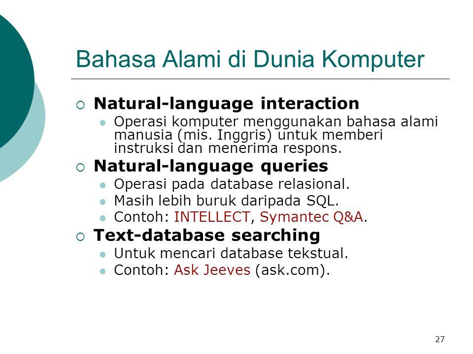 Bahasa Alami di Dunia Komputer