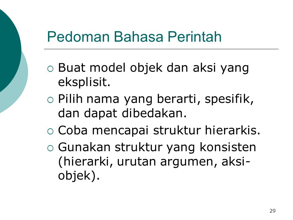 Pedoman Bahasa Perintah