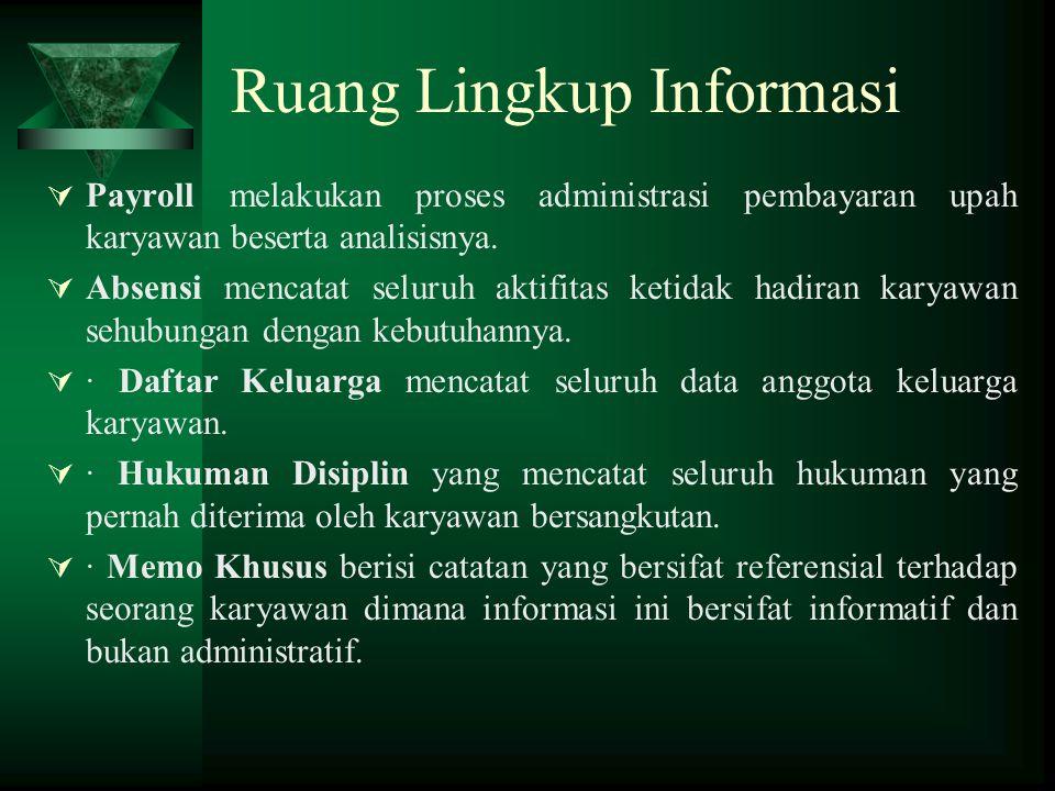 Ruang Lingkup Informasi