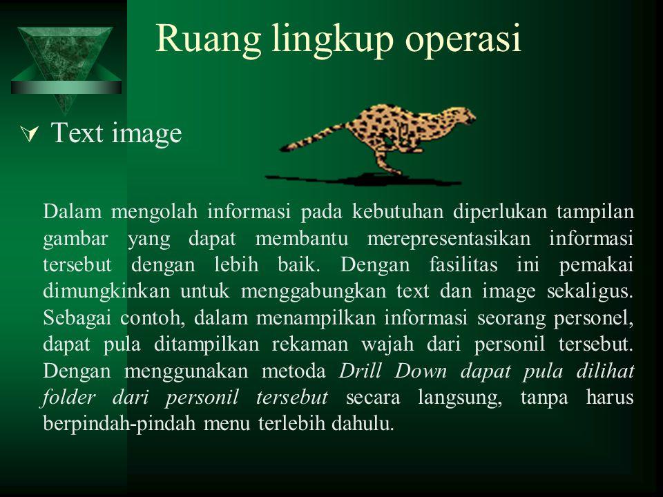 Ruang lingkup operasi Text image