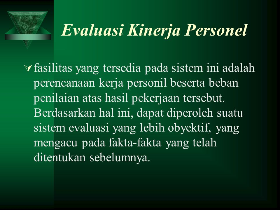 Evaluasi Kinerja Personel