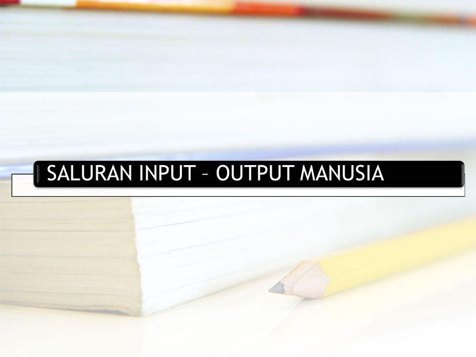 SALURAN INPUT – OUTPUT MANUSIA