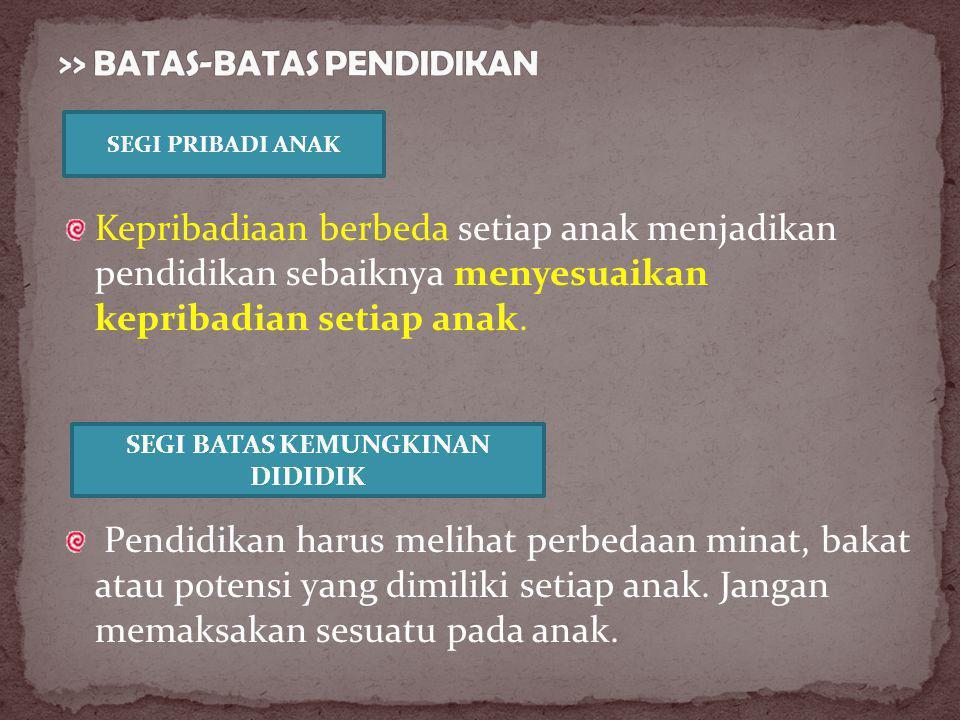 >> BATAS-BATAS PENDIDIKAN