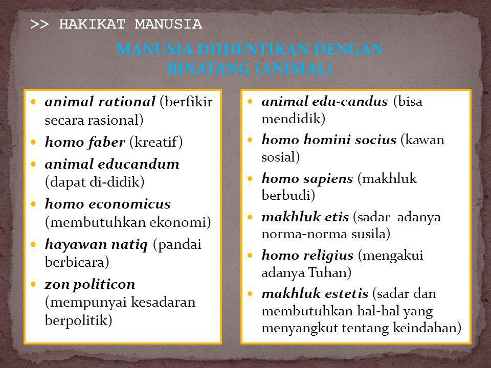>> HAKIKAT MANUSIA