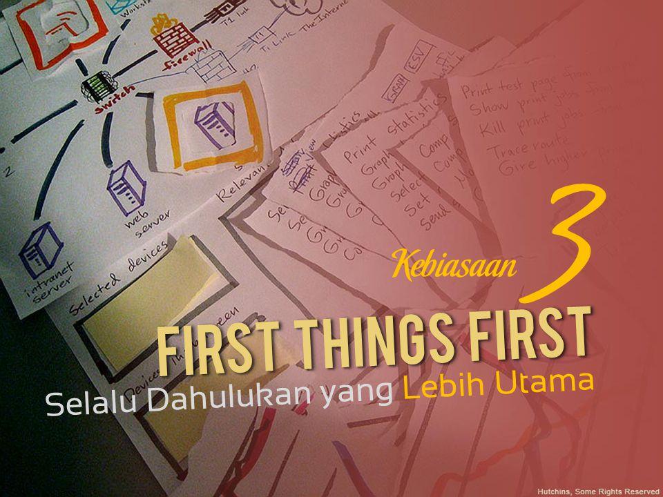 3 Kebiasaan First Things First Selalu Dahulukan yang Lebih Utama