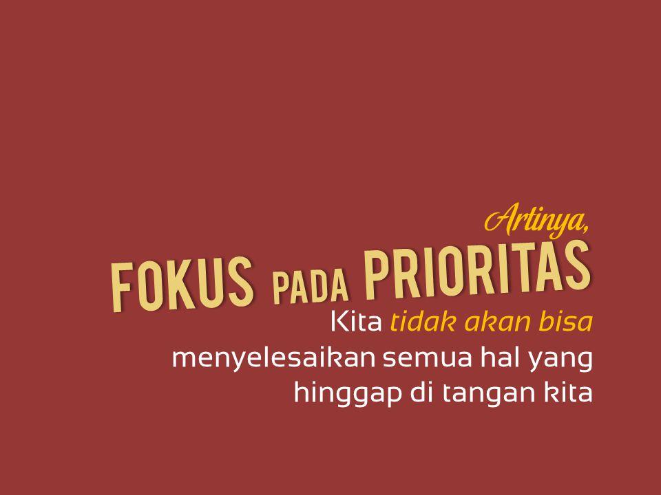 Fokus Pada Prioritas Artinya,