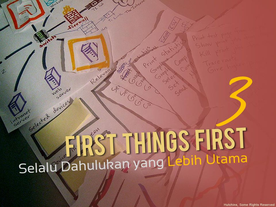 3 First Things First Selalu Dahulukan yang Lebih Utama