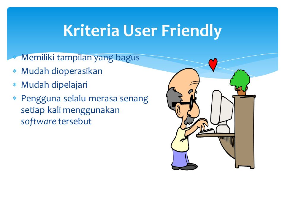 Kriteria User Friendly