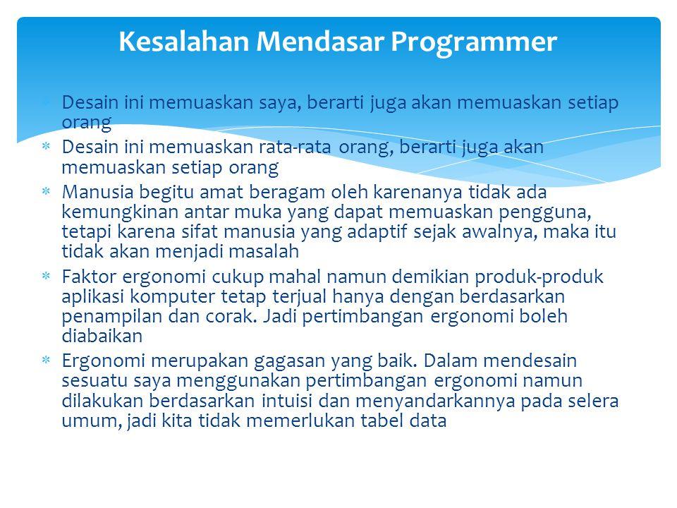 Kesalahan Mendasar Programmer
