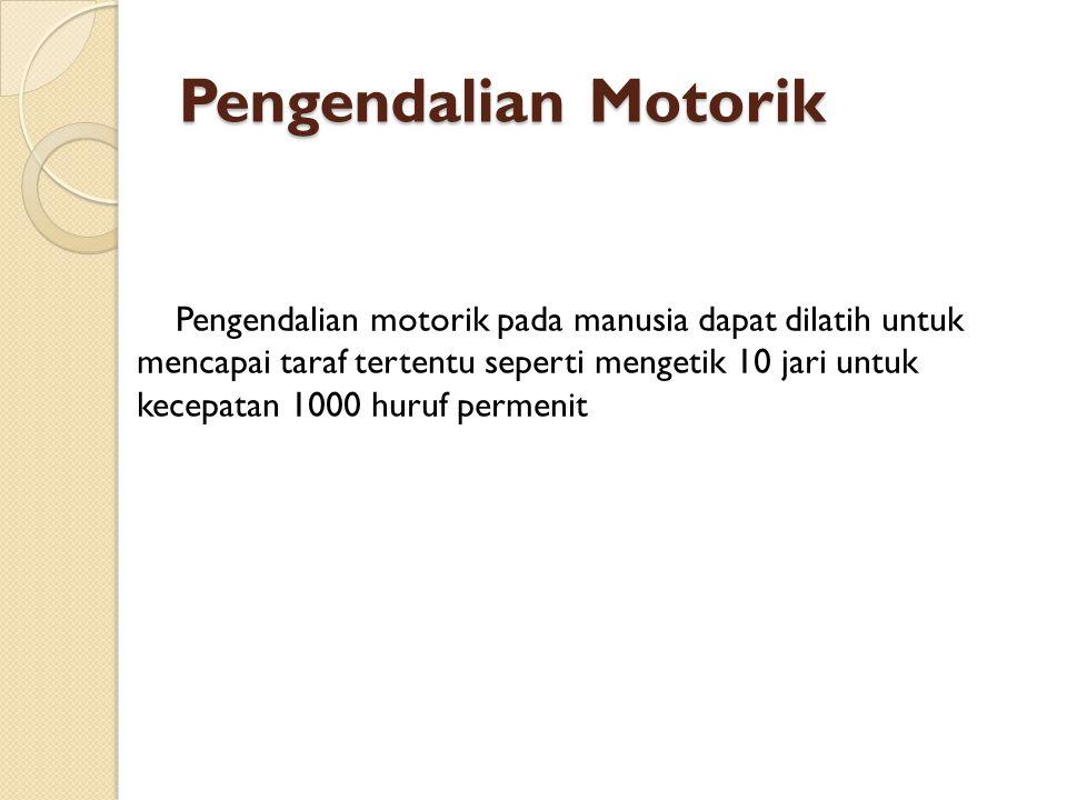 Pengendalian Motorik