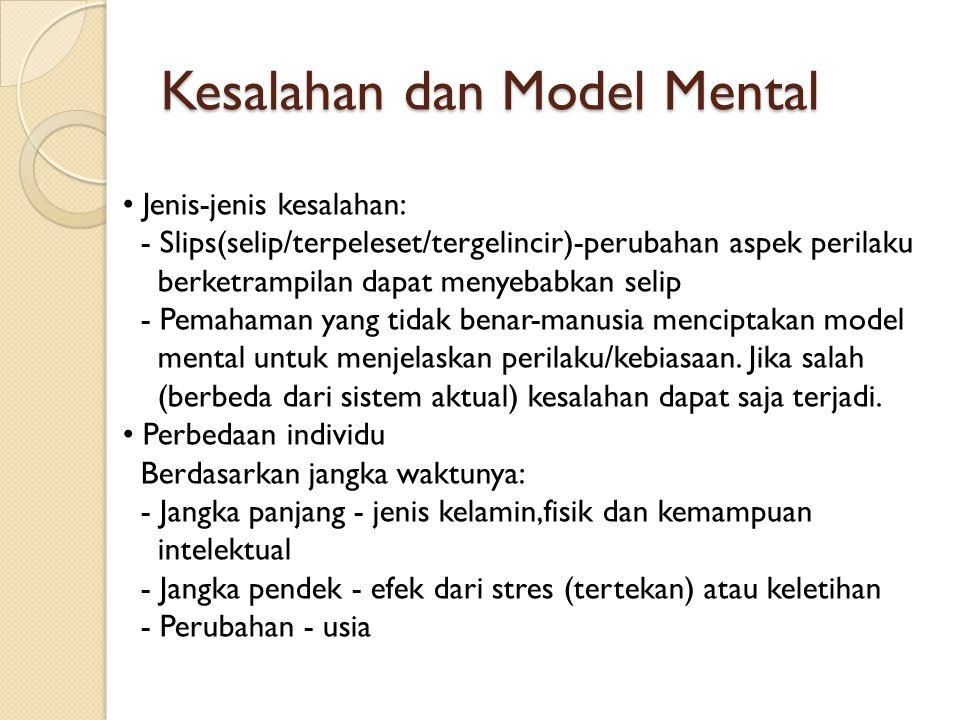 Kesalahan dan Model Mental