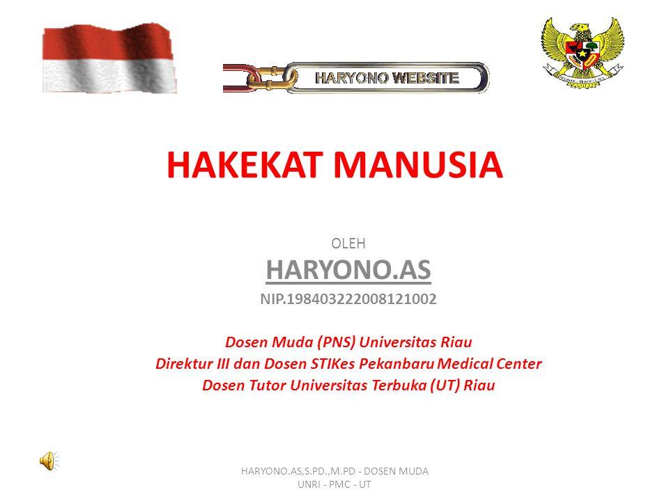 HAKEKAT MANUSIA HARYONO.AS NIP.198403222008121002