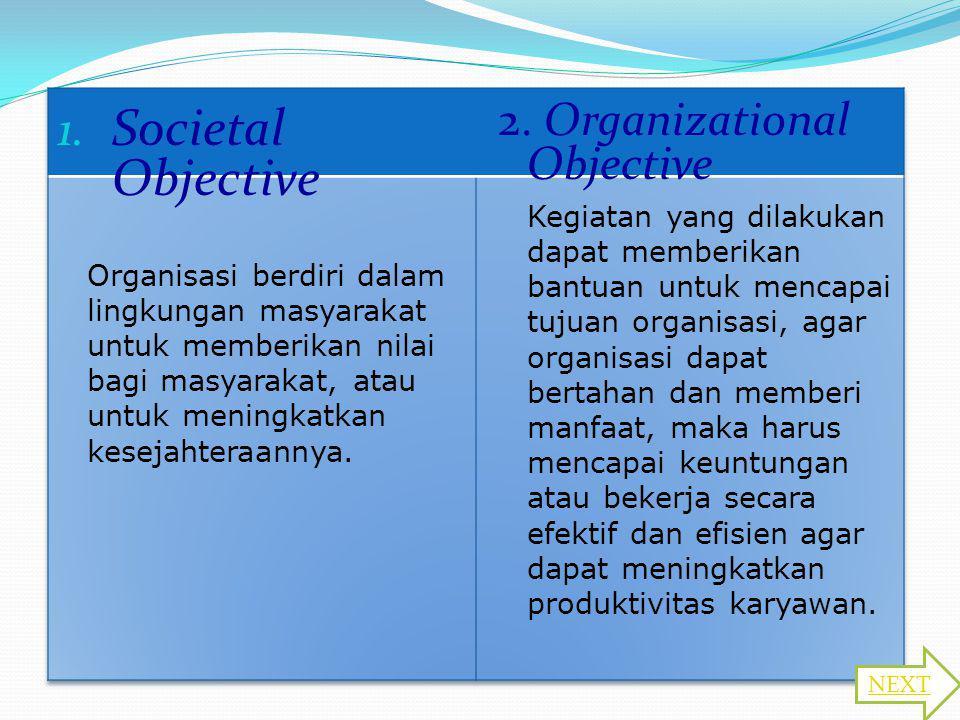 Societal Objective 2. Organizational Objective