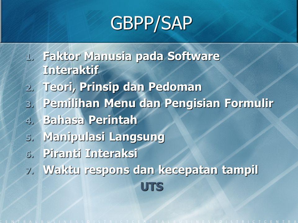 GBPP/SAP Faktor Manusia pada Software Interaktif