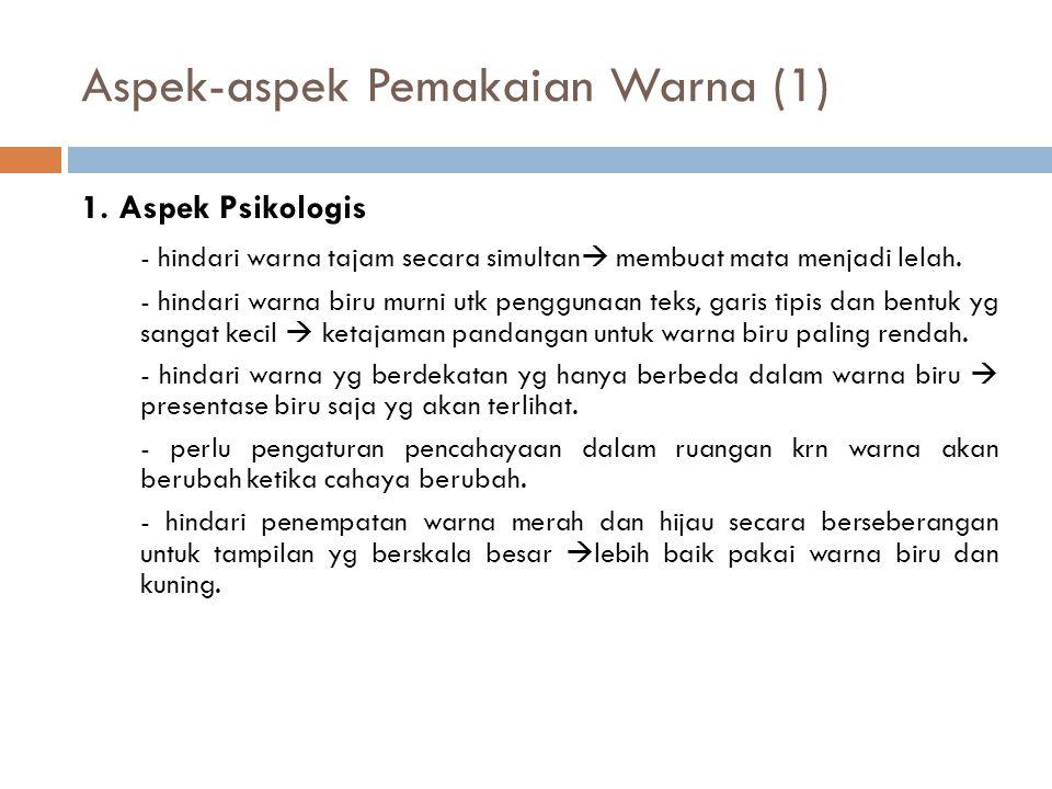 Aspek-aspek Pemakaian Warna (1)
