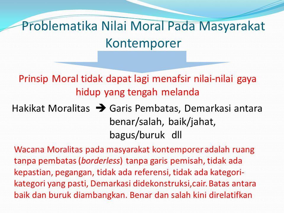 Problematika Nilai Moral Pada Masyarakat Kontemporer