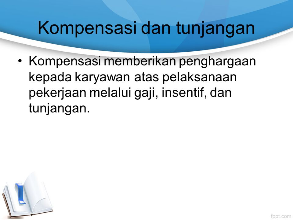 Kompensasi dan tunjangan