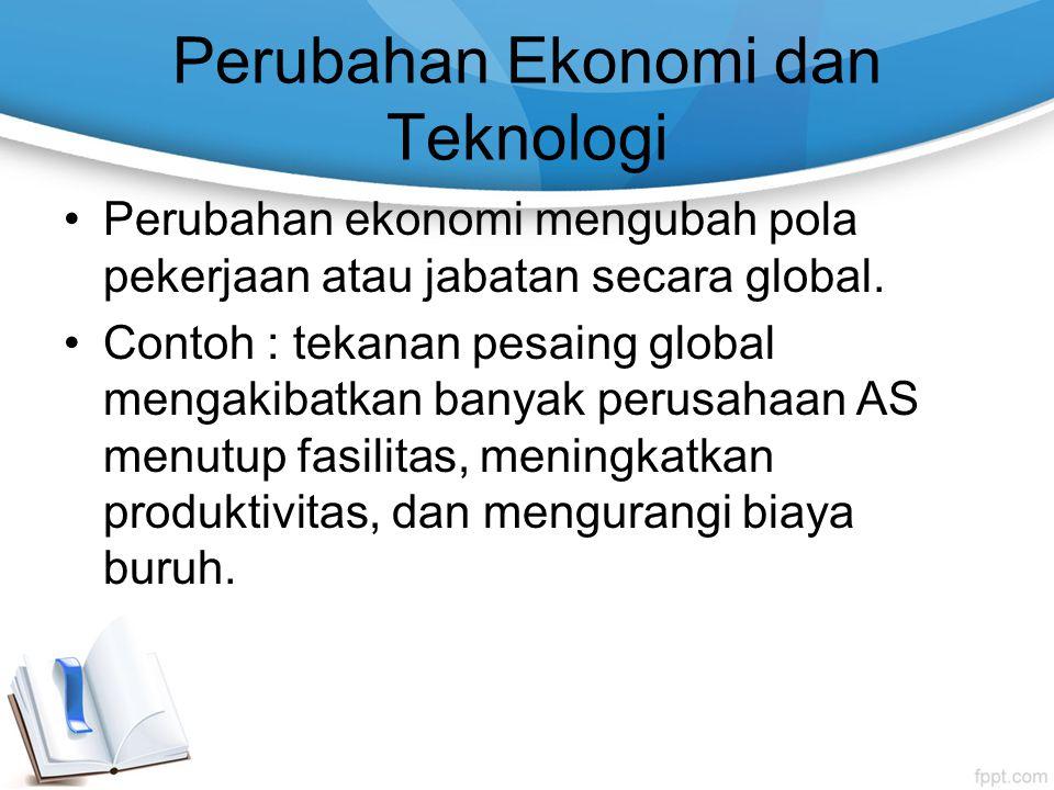 Perubahan Ekonomi dan Teknologi
