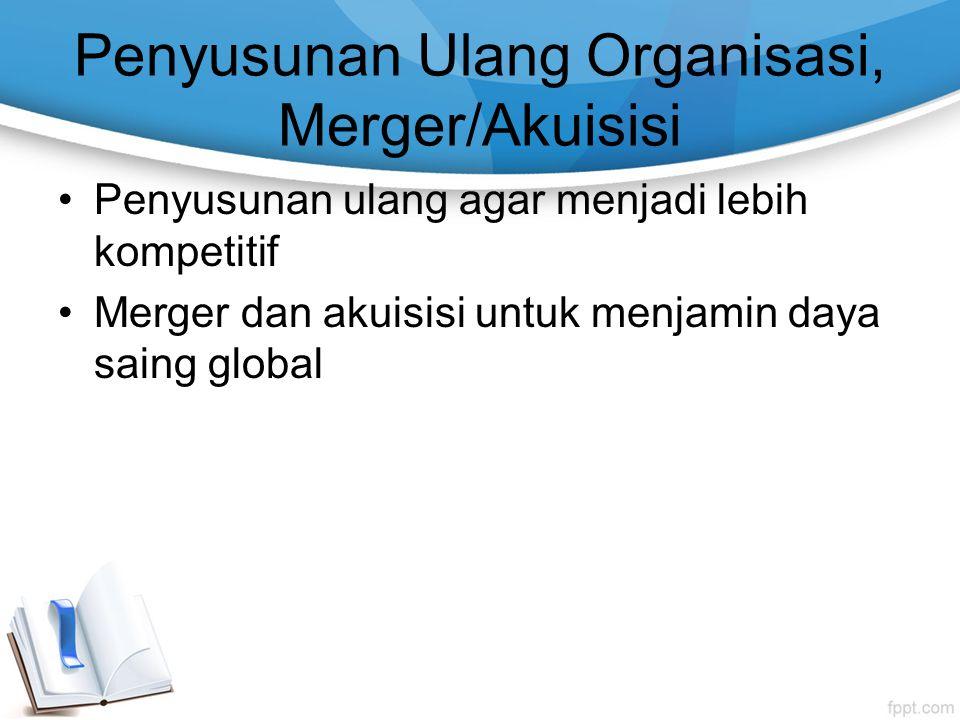 Penyusunan Ulang Organisasi, Merger/Akuisisi