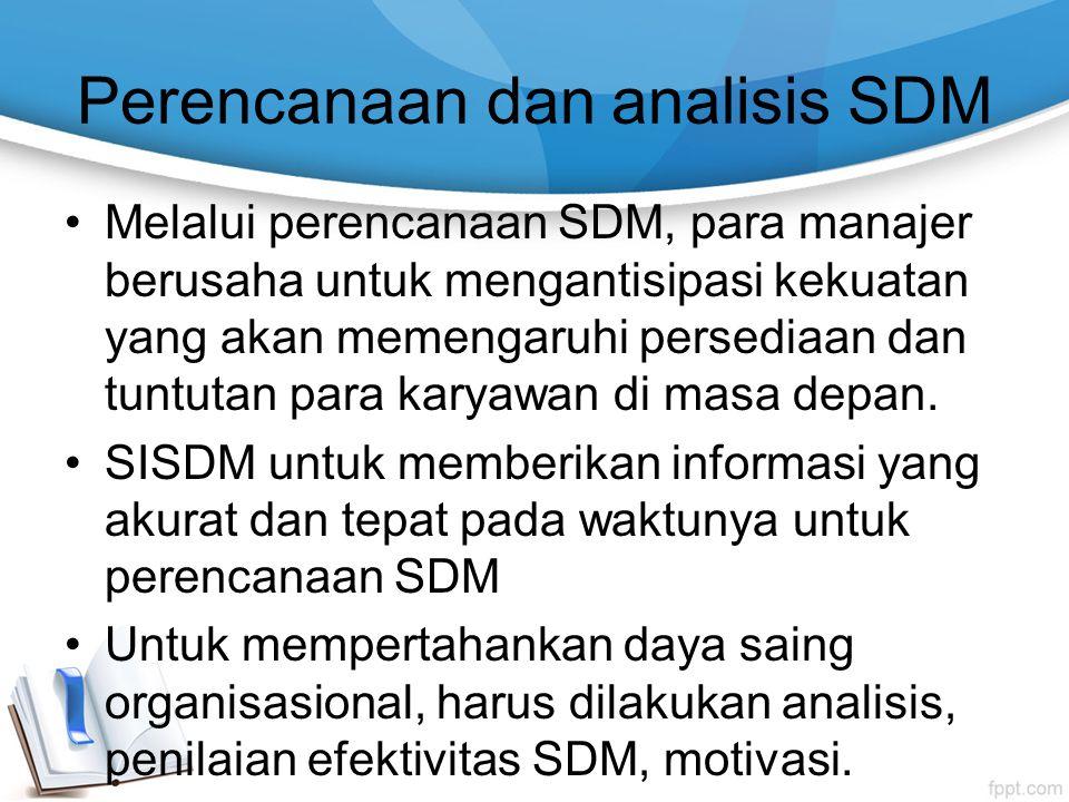 Perencanaan dan analisis SDM