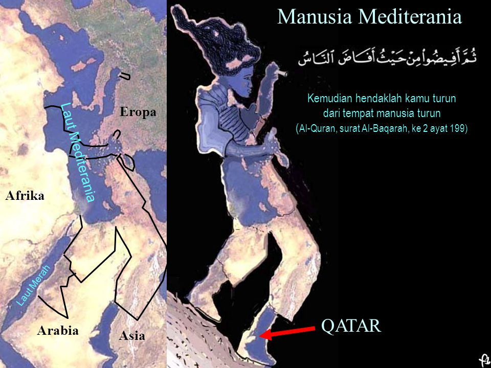 Manusia Mediterania QATAR Eropa Laut Mediterania Afrika Arabia Asia