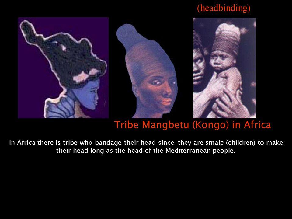 Tribe Mangbetu (Kongo) in Africa