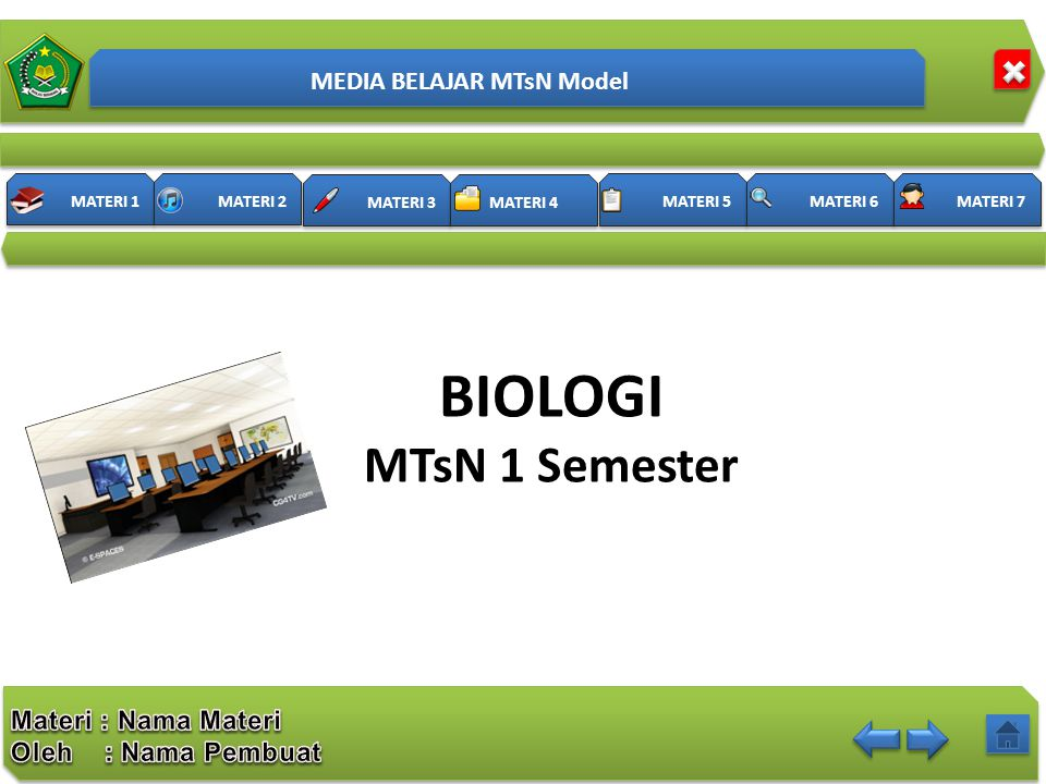 MEDIA BELAJAR MTsN Model